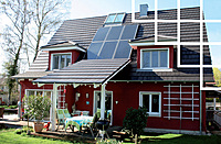 Solaranlage, Kollektor, Einfamilienhaus