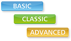 Solarladeregler, Basic-Reihe, Classic-Reihe, Advanced-Reihe