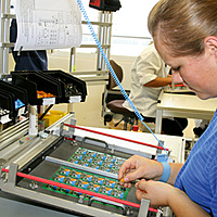 Production, electronics, manual handling, component preparation, manual assembly