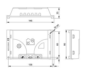 Technical drawing: Steca PR 03-05 PR 0303, PR 0505