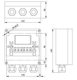 Technical drawing: Steca PR 2020 IP IP 65 Version