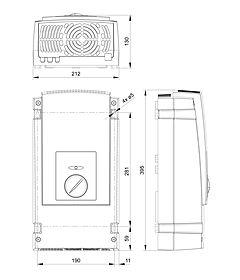Dibujos técnicos: Steca Solarix PI 550, 550-L60, 600, 600-L60, 1100, 1100-L60, 1200, 1200-L60