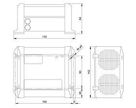 Technical drawing: Steca AJ 275-12, 350-24, 400-48, 700-48, 1000-12, 2100-12, 2400-24