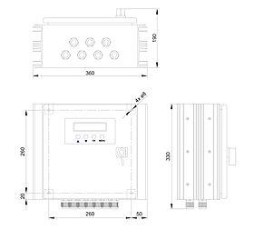 Technische Zeichnung: Steca Power Tarom 2070, 2140, 4055, 4110, 4140