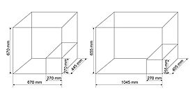 Technical drawing: Steca PF 166-H | PF 240-H Solar refrigerator/freezer