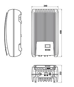 Technical drawing: coolcept StecaGrid 1500, StecaGrid 2000, StecaGrid 2500, StecaGrid 3010, StecaGrid 3600, StecaGrid 4200