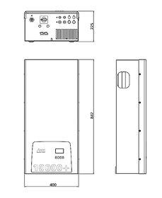Dessins techniques: StecaGrid 8000+ 3ph / StecaGrid 10000+ 3ph Toujours symétrique