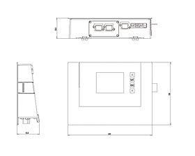 Technical drawing: StecaGrid Vision Display unit for StecaGrid 8000+ 3ph and StecaGrid 10000+ 3ph