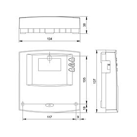Technical drawing: Steca TR A301 PWM 3 inputs, 1 PWM output