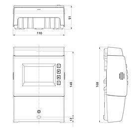 Technische Zeichnung: Steca TR A503 TTR 5 Eingänge, 3 Ausgänge
