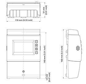 Technical drawing: Steca TR A503 TTR U 5 inputs, 3 outputs