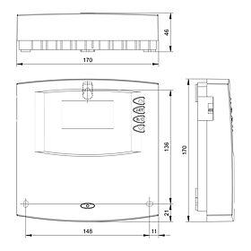 Technische Zeichnung: Steca TH A603 M Heizkreisregler (Master)