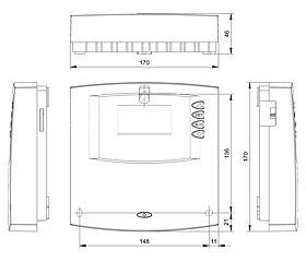 Technische Zeichnung: Steca TF A603 MCK+ / TF A603 KS+ Frischwasserregler (Kaskadierung)