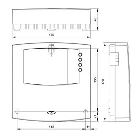 Technical drawing: Steca TE A603+ Expansion module (Slave)
