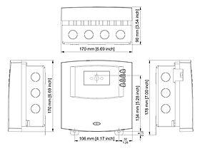 Technische Zeichnung: Steca TR 0502 U 5 Eingänge, 2 Ausgänge