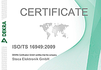 TS 16949, certification, process, quality, Steca