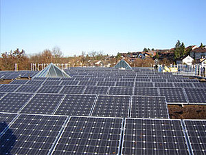 Solartechnik, ref_pv, Photovoltaics, Germany, ditzingen, Flat roof mounted system,205 kWp