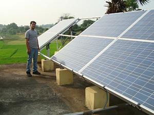 Solarelektronik, PV Autarke Systeme, Hybrid Systeme,Asien, Indien, Freifläche