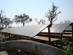 Solarelektronik, PV Autarke Systeme, Hybrid Systeme,Afrika, Botswana, Freifläche