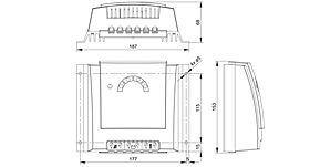 Technical drawing: Steca Solarix MPPT 1010, 2010