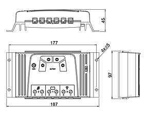 Technische Zeichnung: Steca Solsum 2525, 4040