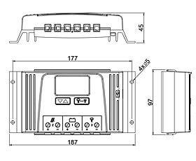 Technische Zeichnung: Steca Solarix 2525, 4040