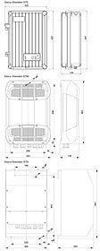 Technical drawing: Steca Xtender XTS 900-12, XTS 1200-24, XTS 1400-48, XTM 1500-12, XTM 2000-12, XTM 2400-24, XTM 3500-24, XTM 2600-48, XTM 4000-48, XTH 3000-12, XTH 5000-24, XTH 6000-48, XTH 8000-48