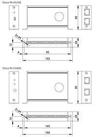 Dessins techniques: Steca PA HS 400 Capteur de courant, accessoires pour Steca Tarom MPPT 6000-M et Steca Tarom