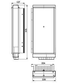 Technische Zeichnung: Stecamat 860 Prozessorgeregeltes Ladegerät für Bleibatterien
