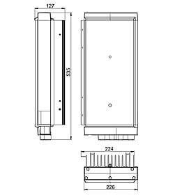 Technische Zeichnung: Stecamat 862 Prozessorgeregeltes Ladegerät für Bleibatterien