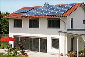 système photovoltaïque, ensemble, habitation
