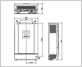 Technical drawing: Steca Solarix PLI 5000-48
