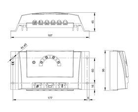 Technische Zeichnung: Steca Solarix PRS PRS 1010, PRS 1515, PRS 2020, PRS 3030