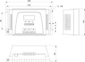 Technical drawing: Steca Solarix MPPT 3020, 5020