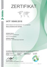 KATEK Memmingen, Zertifikat, ISO 9001, ISO 14001, ISO 50001, IATF 16949
