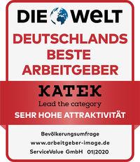 Siegel Deutschlands Beste Arbeitgeber Sehr hohe Attraktivitaet Katek