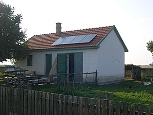Solar electronics, PV off grid, inverter system, farm, Europe, Hungary