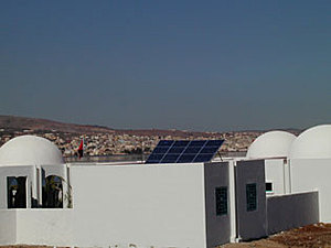 Solar electronics, PV off grid, inverter system, roof mounted system, Africa, Morocco