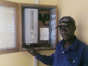 Solar electronics, PV off grid, hospital, Africa, Cameroon