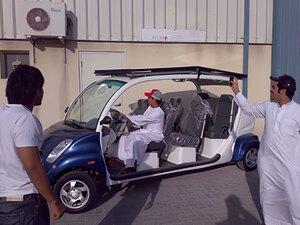 Solarelektronik, PV Autarke Systeme, Solar-Home-Systeme, Asien, UAE, Dubai, Solarbetriebenes Auto