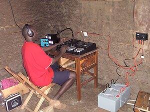 Solarelektronik, PV Autarke Systeme, Solar-Home-Systeme, Afrika, Sudan, Solar Radio Station