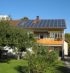 Solartechnik, ref_pv,Photovoltaics, Germany, durach, row house, Roof-mounted system, 9,16 kWp