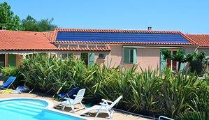 Solartechnik, ref_pv,Photovoltaik, Frankreich, Castelnou, Aufdachanlage, 6 kWp