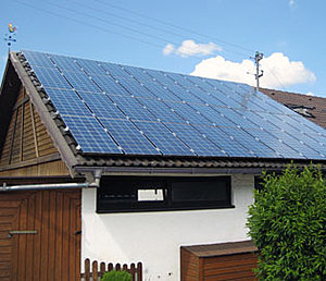 Solartechnik, ref_pv, Photovoltaics, Germany, Trochtlefingen,Repowering, Roof-mounted system, 5,5 kWp