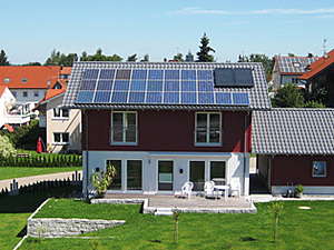 Solartechnik, ref_pv, Photovoltaics,  Germany, Aichstetten, One-family house,  Roof-mounted system, 4,4 kWp