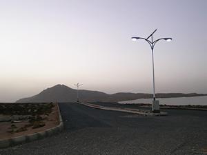 Solarelektronik, PV Autarke Systeme, Nachtlicht-System, Afrika, Algerien, Straßenbeleuchtung