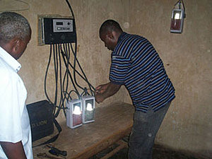 Ref Solar Home System Uganda Installing Charging station Mukono District 3 web