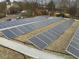 Solartechnik, ref_pv, Photovoltaics, Germany, Sindelfingen, Flat roof mounted system, 30,42kWp