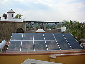 Solartechnik, ref_pv, Photovoltaics,  Mexico, San Miguel de Allende, Roof-mounted system, 1,38kWp