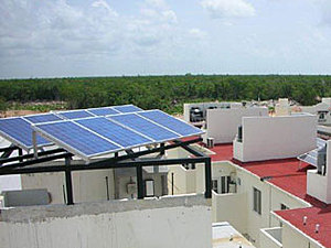 Solartechnik, ref_pv, Photovoltaics,  Mexico, Playa del Carmen, Roof-mounted system,2kWp